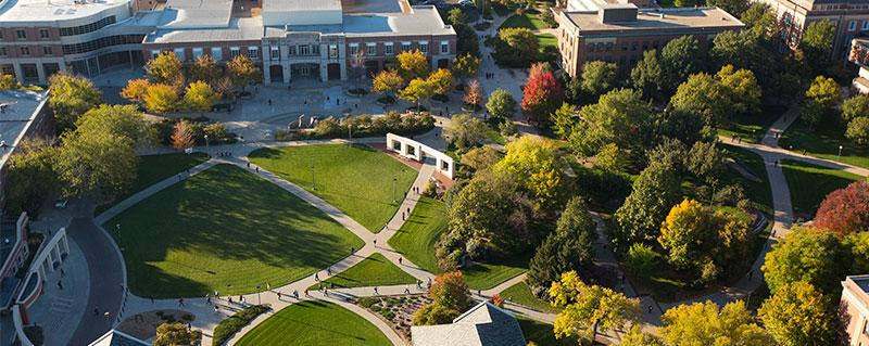 arial view of UNL campus